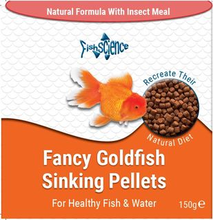 Fancy Goldfish Sinking Pellets with insect meal - 150gm