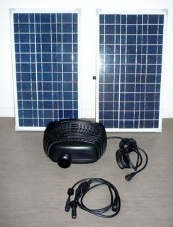 Solar Pump with Fountain - SP100 (100W) Double panel