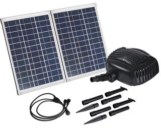 Solar Pump with Fountain - SP50 (50W) Double panel