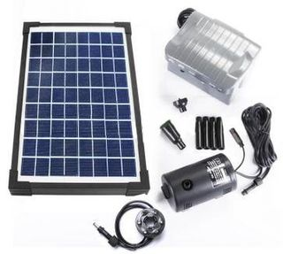 Solar Pump with Fountain, Back-Up Battery, and LED SPBL10 (10W)