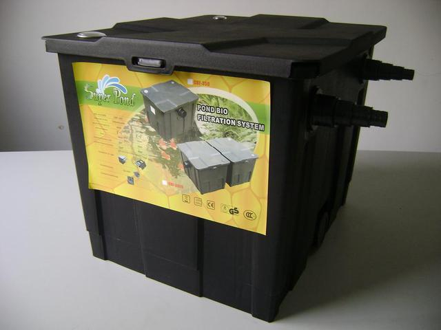 Bio filter gravity feed super pond cbf 350 gardens for Gravity fed pond filter system