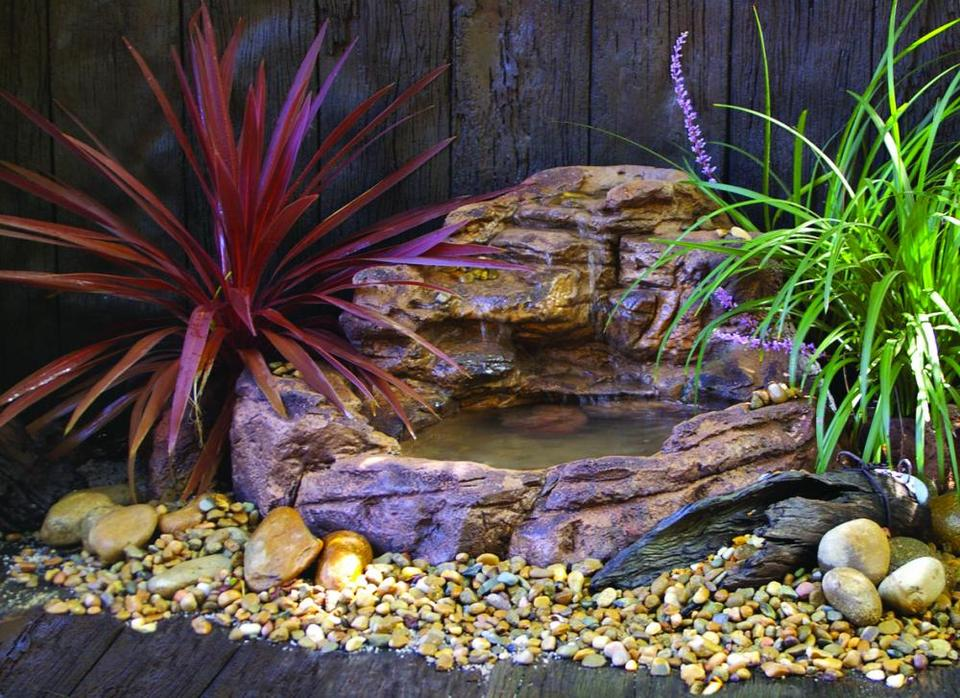 Small Waterfall Pond - 008 (Self-contained unit) - Grey