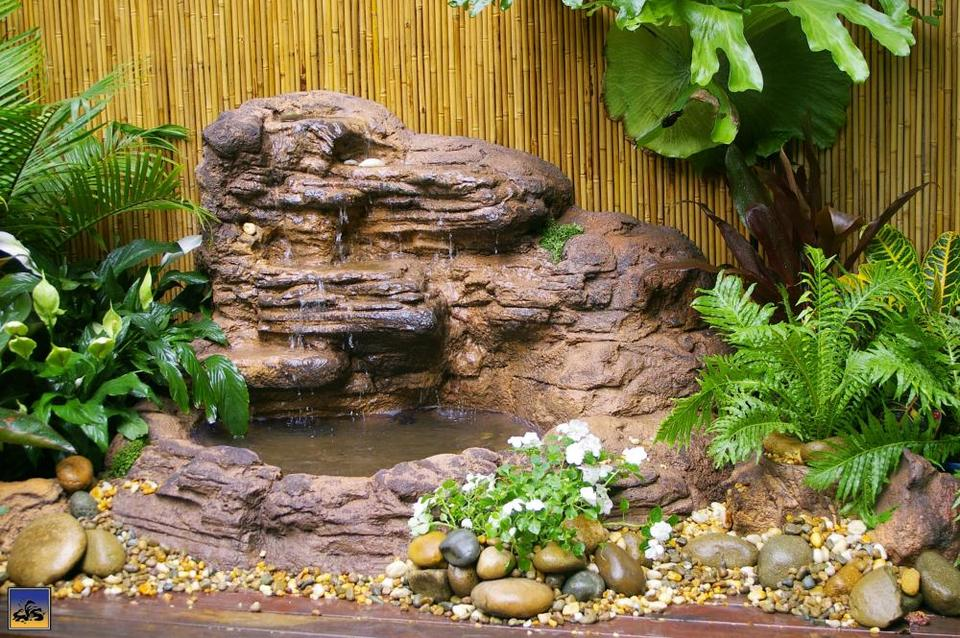 Wall Waterfall Pond - 002 (Self-contained unit) - Grey
