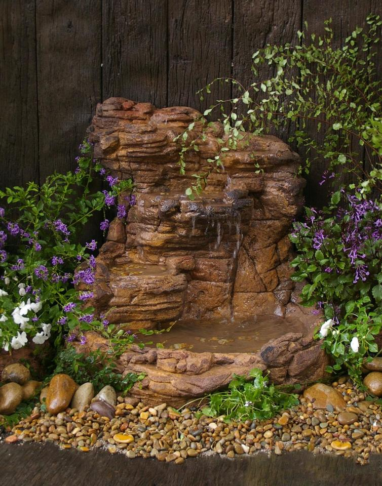 Wall Waterfall Pond - 008 - Grey